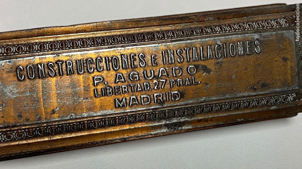 Sellos: CAJA METALICA PARA GUARDAR SELLOS PUBLICIDAD CONSTRUCCIONES E INSTALACIONES P. AGUADO - Foto 3 - 277514268