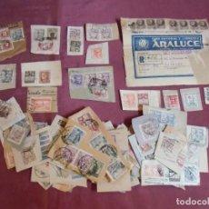 Sellos: FILATELIA.LOTE DE MAS DE 100 FRAGMENTOS DIVERSOS FRANQUEOS ,AÑOS 40.. Lote 278176653