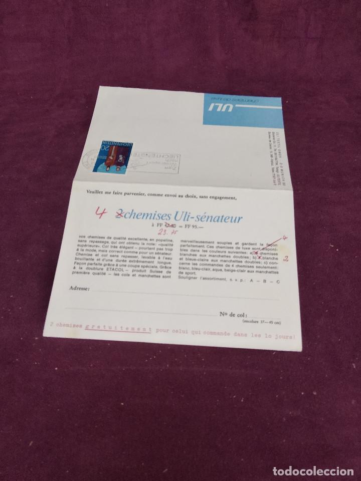 LEICHTENSTEIN, 1971, DOBLE TARJETA PUBLICITARIA FRANQUEADA (Sellos - Material Filatélico - Otros)