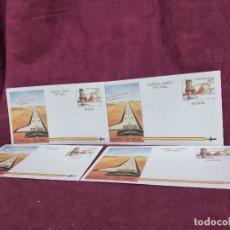 Timbres: ESPAÑA, 1984, 4 AEROGRAMAS IGUALES, NUMERACIÓN CORRELATIVA. Lote 287720373