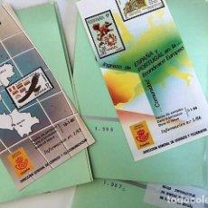 Selos: HOJAS INFORMATIVAS DE LAS EMISIONES DE SELLOS DE ESPAÑA: AÑOS 1985 A 1987. Lote 295823728