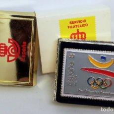 Sellos: PRE-OLIMPICA BARCELONA '92. PIN. SERVICIO FILATELICO DE CORREOS.. Lote 295996348