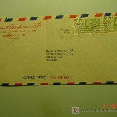 Sellos: 4973 MEXICO CARTA CIRCULADA A ENGLAND - AÑO 1952 - MAS EN MI TIENDA COSAS&CURIOSAS. Lote 6962053