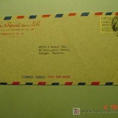 Sellos: 4975 MEXICO CARTA CIRCULADA A ENGLAND - AÑO 1955 - MAS EN MI TIENDA COSAS&CURIOSAS. Lote 6962170