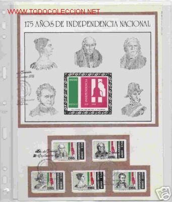 GRAN OPORTUNIDAD MEXICO MAGNIFICO ALBUM CON DOS AÑOS DE MEXICO AÑOS 1985/1986 MONTADOS EN 23 HOJAS (Sellos - Extranjero - América - México)