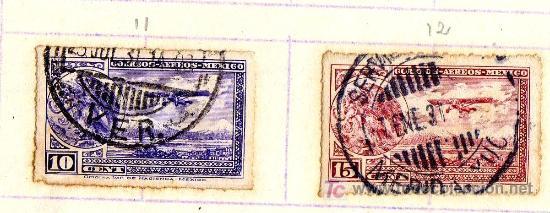 Sellos: LOTE 3 SELLOS MÉXICO, CORREO AEREO, PRINCIPIO S.XX (VER IMÁGENES EN INTERIOR) - Foto 3 - 21789632