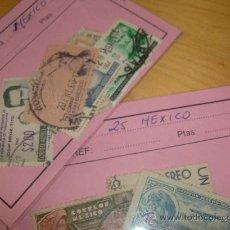 Sellos: 25 SELLOS USADOS DISTINTOS MEXICO. Lote 19656484