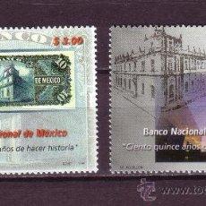 Sellos: MEXICO 1869/70*** - AÑO 1999 - 115º ANIVERSARIO DEL BANCO NACIONAL DE MEXICO. Lote 22390201