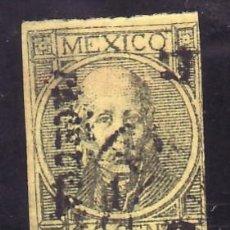 Sellos: MEXICO 46(I) USADA, MIGUEL HIDALGO, MARGEN JUSTO. Lote 24645518