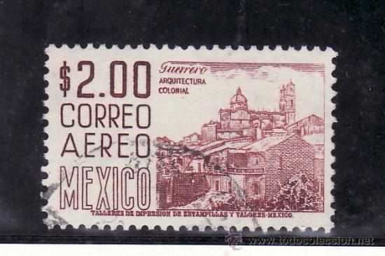 MEXICO A 227A USADA, DENTADO 11.5 X 11, ARQUITECTURA COLONIAL, (Sellos - Extranjero - América - México)