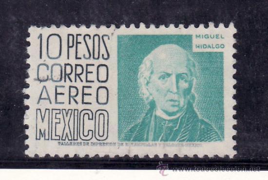 MEXICO A 175B USADA, MIGUEL HIDALGO HEROE NACIONAL, (Sellos - Extranjero - América - México)