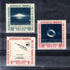 Sellos: MEXICO A 119/21 CON CHARNELA, INAUGURACION DEL OBSERVATORIO DE TONANZINTLA Y CONGRESO ASTROFISICO. Lote 24767996