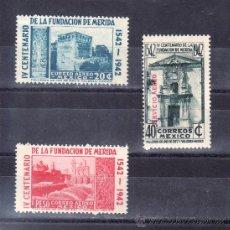 Francobolli: MEXICO A 110/2 CON CHARNELA, IV CENTENARIO DE LA CIUDAD DE MERIDA, . Lote 24768205