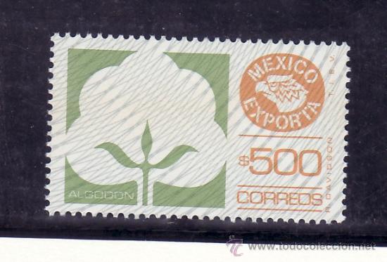 MEXICO 1093 SIN CHARNELA, MEXICO EXPORTA ALGODON, (Sellos - Extranjero - América - México)