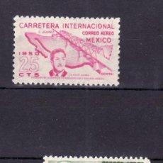 Sellos: MEXICO A 176/7 SIN CHARNELA, INAUGURACION DE LA CARRETERA INTERNACIONAL DE CIUDAD JUAREZ A OCOTAL . Lote 24767741