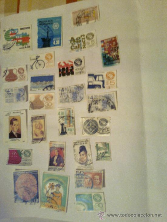 Sellos: Lote más de 100 sellos de Mexico años 70 y 80. - Foto 3 - 33977091