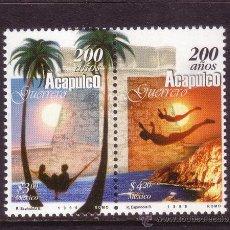 Sellos: MEXICO 1859/60*** - AÑO 1999 - BICENTENARIO DE LA CIUDAD DE ACAPULCO. Lote 36984318