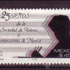 Sellos: MÉXICO 1280*** AÑO 1989 - 25º ANIVERSARIO DE LA SOCIEDAD DE AUTORES Y COMPOSITORES DE MUSICA. Lote 36997244