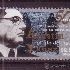 Sellos: MEXICO 1738*** - AÑO 1997 - 50º ANIVERSARIO DE LA OBRA DE AGUSTIN YANEZ AL FILO DEL AGUA. Lote 37033456