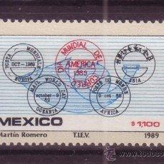 Sellos: MEXICO 1298* - AÑO 1989 - DÍA MUNDIAL DEL CORREO. Lote 37087672