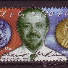 Sellos: MEXICO 1772*** - AÑO 1997 - HOMENAJE AL DOCTOR MARIO MOLINA - PREMIO NOBEL DE QUIMICA 1995. Lote 37093731