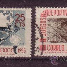Sellos: MÉXICO AÉREO 189/90 - AÑO 1955 - JUEGOS DEPORTIVOS PANAMERICANOS. Lote 37093804