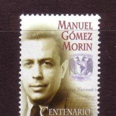 Sellos: MEXICO 1766*** - AÑO 1997 - CENTENARIO DEL NACIMIENTO DE MANUEL GOMEZ MORIN. Lote 37247384