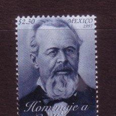 Sellos: MEXICO 1762*** - AÑO 1997 - CENTENARIO DE LA MUERTE DEL POETA GUILLERMO PRIETO. Lote 37359108