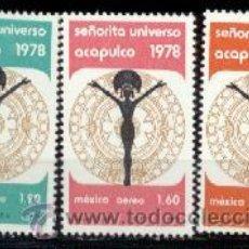 Francobolli: MÉJICO. A 474/76 ELECCIÓN DE MISS UNIVERS**. ACAPULCO 1978. SELLOS NUEVOS Y NUMERACIÓN YVERT.. Lote 42431257