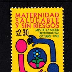 Sellos: MEXICO 1835** - AÑO 1998 - POR UNA MATERNIDAD SANA Y SIN RIESGOS. Lote 43246001