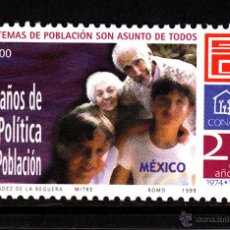 Sellos: MEXICO 1862** - AÑO 1999 - 25º ANIVERSARIO DE LA POLITICA DEMOGRAFICA. Lote 43324478