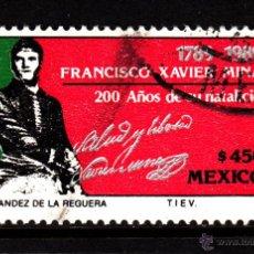 Sellos: MÉXICO 1294 - AÑO 1989 - BICENTENARIO DEL NACIMIENTO DEL GENERAL FRANCISCO XAVIER MINA. Lote 278427643