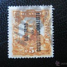 Sellos: MEXICO 1914, CENTENARIO DE LA INDEPENDENCIA, SELLO SOBRECARGADO,YVERT 272 . Lote 47373551