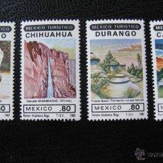 Sellos: MEXICO 1982, SERIE TURISTICA, YVERT 971/74. Lote 47515769