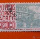 Sellos: MEXICO 1950, CONSERVATORIO DE MUSICA, CORREO AEREO, YVERT 175C. Lote 47635302