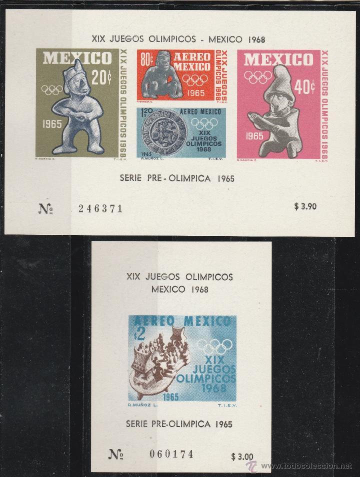 MEXICO 1968 SERIE XIX JUEGOS OLIMPICOS MEXICO 68' 2 HB. **. MNH (Sellos - Extranjero - América - México)