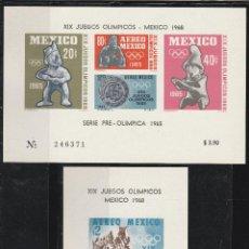 Sellos: MEXICO 1968 SERIE XIX JUEGOS OLIMPICOS MEXICO 68' 2 HB. **. MNH. Lote 47888807