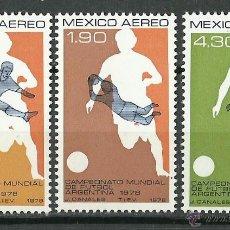 Sellos: MEXICO - 1978 - SCOTT C565/C567** MNH (DEPORTES). Lote 49304963
