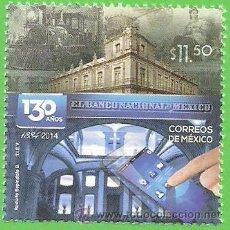 Francobolli: MÉXICO - MICHEL 3853 - CXXX ANIVERSARIO DEL BANCO NACIONAL DE MÉJICO. (2014).** NUEVO SIN FIJASELLOS. Lote 49340075