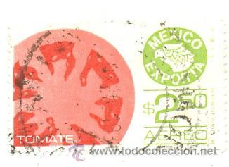 2-MEX509AE. SELLO USADO MEXICO. YVERT Nº 509 AÉREO. MÉXICO EXPORTA. TOMATE (Sellos - Extranjero - América - México)