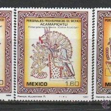 Sellos: MEXICO 1982.SERIE.PERSONALIDADES PRE-HISPANICAS. **,MNH. Lote 52479524