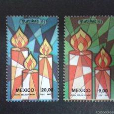Sellos: SELLOS DE MÉXICO. NAVIDAD. YVERT 1023/4. SERIE COMPLETA NUEVA CON CHARNELA.. Lote 54457314