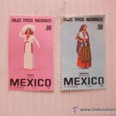 Sellos: LOTE DE 2 SELLOS DE MEXICO. TRAJES TIPICOS DE MEXICO . NUEVOS SIN USAR.. Lote 55484213