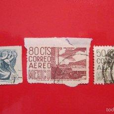 Sellos: SELLO MEJICO: PUEBLA 1 PESO, CHIAPAS 50 CTS Y OTRO 80 CTS. Lote 56515387
