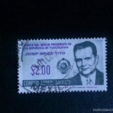 Sellos: MEXICO,,,1963, PRESIDENT TITO VISIT 1V ... USADO.. Lote 58630418