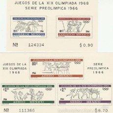 Sellos: MEXICO 1968. SERIE LA XIX OLIMPIADA 1968 Y SERIE PREOLIMPICA 1966. EN HB . **.MNH. Lote 58670931