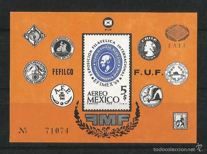 MEXICO 1968 EXPOSICIÓN FILATÉLICA INTERNACIONAL EN MEXICO (Sellos - Extranjero - América - México)