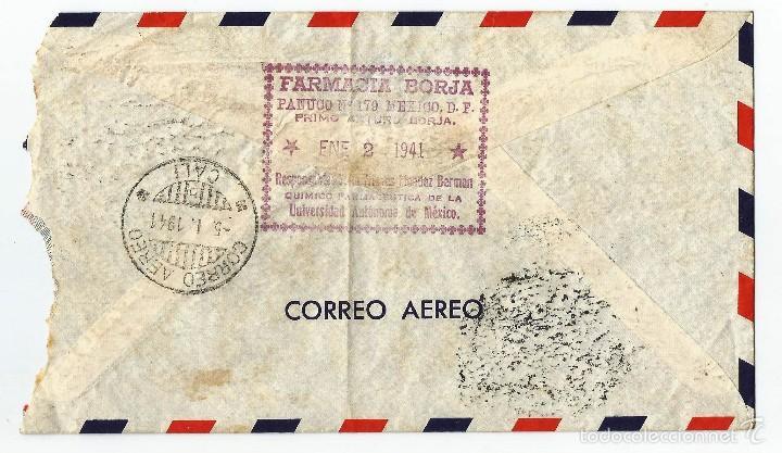 Sellos: MEXICO CORREO AEREO 1941 SOBRE VOLADO DESDE MEXICO A COLOMBIA. - Foto 2 - 59820956