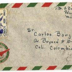 Sellos: MEXICO CORREO AÉREO. 1940 CARTA VOLADA DESDE MEXICO A COLOMBIA. CANCELACIÓN DE DOBLE CÍRCULO Y CART. Lote 59821052