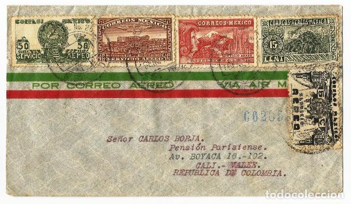 MEXICO CORREO AÉREO. 1940 CARTA VOLADA DE MEXICO A COLOMBIA (Sellos - Extranjero - América - México)